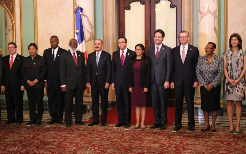 Presidente Medina recibe a ministros de Relaciones Exteriores de la Celac