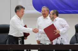 La paz en Colombia ondeando desde La Habana, Cuba