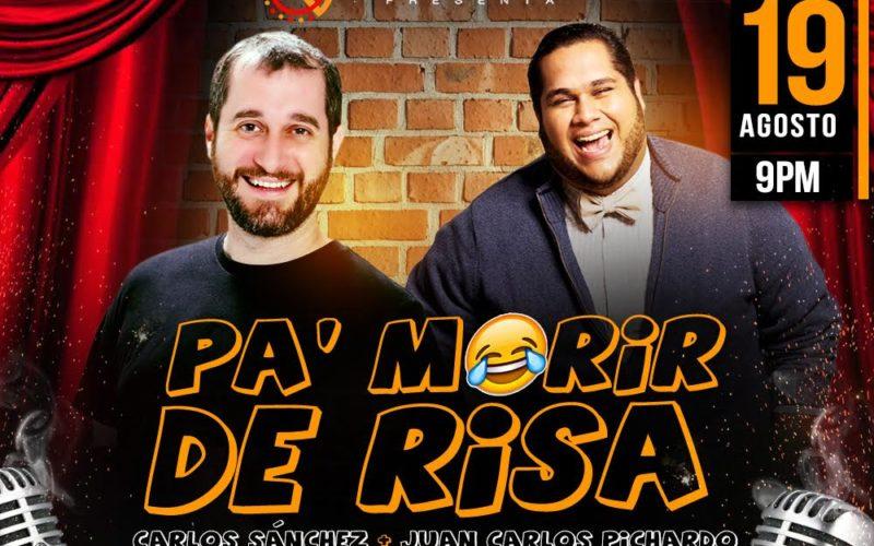Carlos Sánchez y Juan Carlos Pichardo… No se lo pierdan esta noche en Escenario 360… Pa' que se mueran de risa…