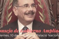 Presidente Medina convoca al Consejo de Gobierno Ampliado para este viernes