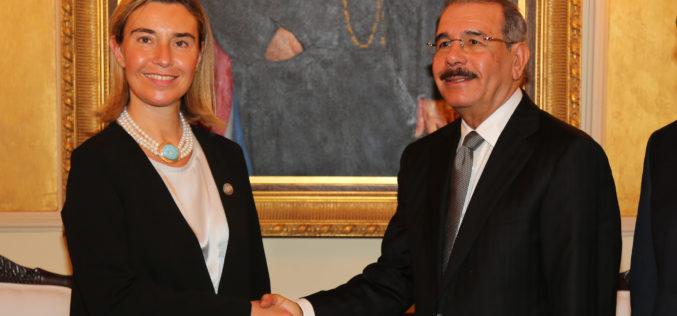 Presidente Medina recibe a la representante de UE para Asuntos Exteriores y Políticas de Seguridad