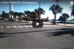 (Videos) El Malecón de la Capital Dominicana ya luche mucho mas desahogado sin vehículos pesados