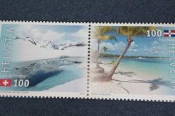 Emisión de sello postal conmemora 80 años de relaciones Suiza-RD