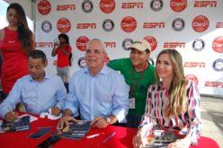 Carolina Guillén, Enrique Rojas y Ernesto Jerez, de ESPN, con Beisbol Esta Noche desde la CapitalRD este miercoles