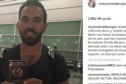 Víctor Estrella muestra con orgullo en Argentina el pasaporte diplomático que le concedió Danilo Medina
