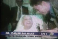 (Video) Aquí, la entrevista que el doctor Balaguer concedió a El Pachá en la etapa final de su vida
