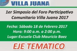 El Foro Villa Juana 2017, este sábado en el Club Mauricio Báez