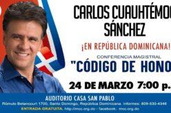 """Esceritor Carlos Cuauhtémoc Sánchez viene a RD; dictará conferencia """"Código de honor"""""""