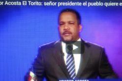 (Video) El Torito dirige discurso por tv preocupado por inseguridad ciudadana y pregunta dónde está el Presidente?