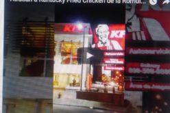 (Video) Atracan Kentucky Fried Chicken de Bella Vista y cargan con cerca de RD$200 mil esta madrugada
