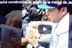 (Video) El Pachá comiendo un guiso en pleno Safeco Field de Seattle que preparó la madre de Jean Segura