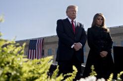 Donald Trump y su esposa Melania en conmemoración del 11-S