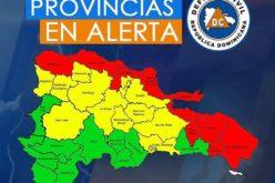 Provincias en Alerta Roja, Verde y Amarilla, a propósito del huracán Irma