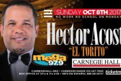 El Torito decide donar dinero ganará en el Carnegie Hall a víctimas terremoto en México y huracán María en PR y RD