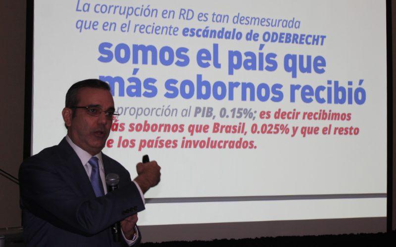 Un Acuerdo Nacional contra la Contra de la Corrupción y la Impunidad, propone Luis Abinader