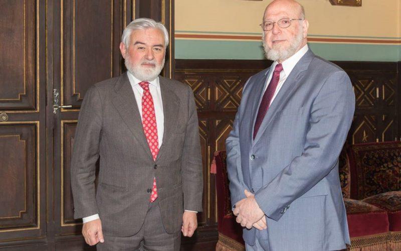 Ministro de Cultura RD y director Real Academia Española sostienen encuentro
