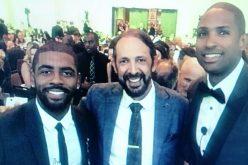 Juan Luis Guerra con Al Horford y Kar Irvin… «¡Go @Celtics !»
