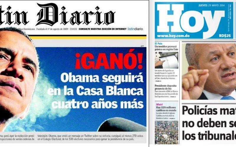 Los periódicos Listín Diario y Hoy se convertirán en tabloides, según ha podido enterarse cristalycolores