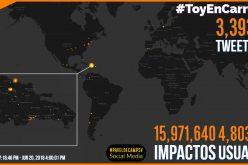 El «carreteo» fue «tendencia de alta actividad» en Twitter; logró 16 millones de impactos en cerca de 5 millones de usuarios