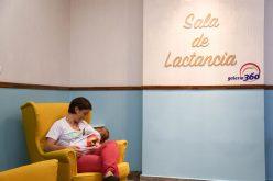 Un área de lactancia materna para el público en Galería 360
