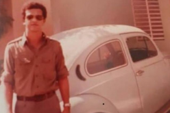 Ahí está Leonel, con su «cepillito azul» (Volkswagen)