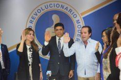 El pastor Dío Astacio juramentado en el PRM por José Paliza y Carolina Mejía