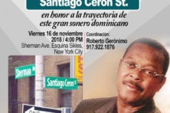 Una calle del Alto Manhattan de Nueva York tendrá el nombre del cantante sonero dominicano Santiago Cerón
