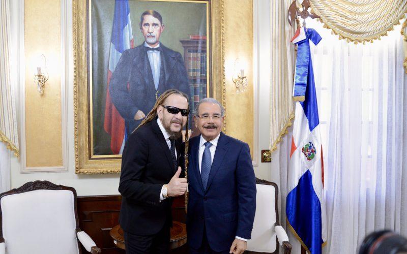 El Cuquito Toño Rosario visitó al presidente Danilo Medina en el Palacio Nacional