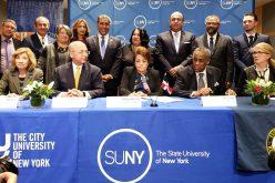 Universidades de NY y ministrerios de Educación RD firman acuerdos