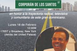 Corporán de los Santos… Así se llamará una calle de Nueva York en el Alto Manhattan