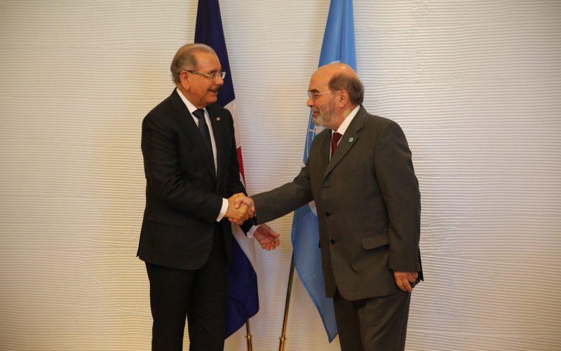 El presidente Medina sostiene reunión en Roma con José Graziano da Silva, director general de la FAO