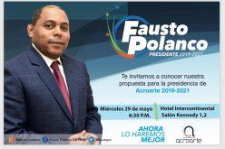 Fausto Polanco presentará su plancha para elecciones Acroarte este miércoles