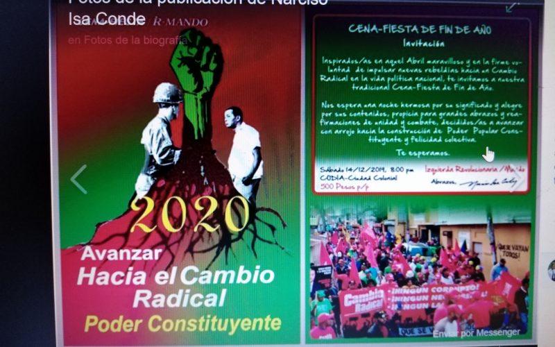 La nostalgia de la izquierda radical dominicana, de «los inclaudicables», se hará sentir en un encuentro navideño el próximo sábado