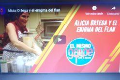 (Video) Jochy Santos «mendigándole» un flan a Alicia Ortega… Ella, de pena, se lo regaló…