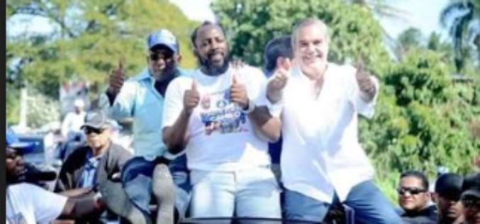 Vladimir Guerrero en campaña política por Luis Abinader… Y por su hermano Eliezer Guerrero, candidato a alcalde de Nizao