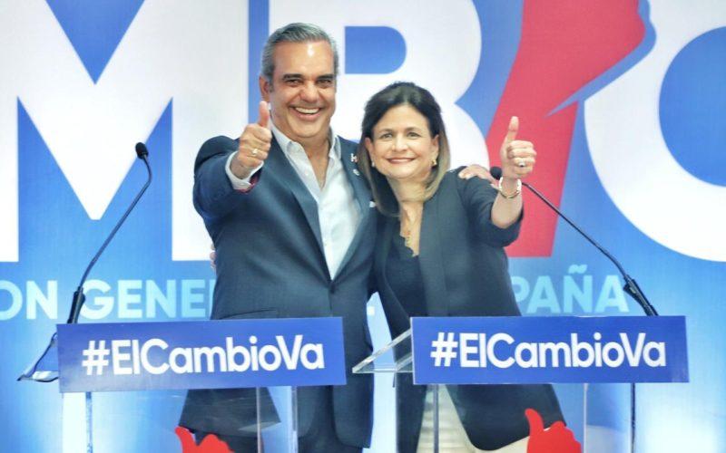 Raquel Peña es la compañera de Luis Abinader en la boleta como candidata vicepresiencial; Sergia Elena es de Leonel Fernádez