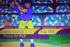 Movimiento Presidente de la Camisa Mangas Cortas con spot de tv caricaturizado que presenta a Gonzalo Castillo conectando jonrón a La Tayota en primera vuelta