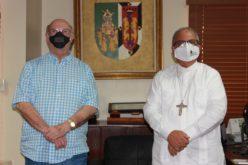 Hipólito Mejía se reúne con monsñor Benito Ángeles, rector UCSD, y renuevan acuerdo con Instituto de Formación Política Dr. José Francisco Peña Gómez