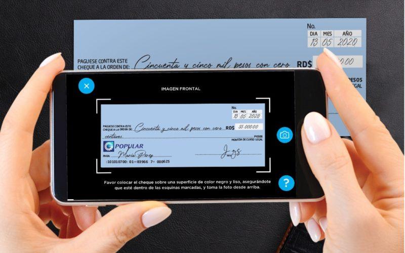 Clientes del Banco Popular pueden depositar cheques y adquirir su token digital desde App