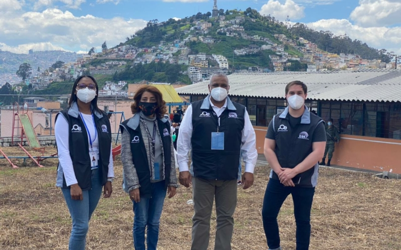 Presidente TSE participa como observador en elecciones Ecuador