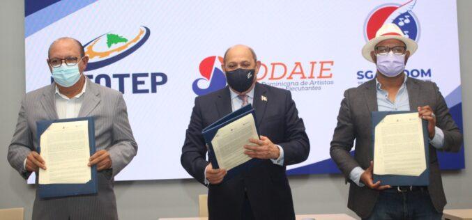 Infotep, Sodaie y Sgacedom firman acuerdo de cooperación interinstitucional
